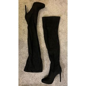 Forever 21 Over-The-Knee Boots FauxSuede - Size: 6